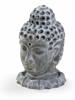 Buddha head candle holder